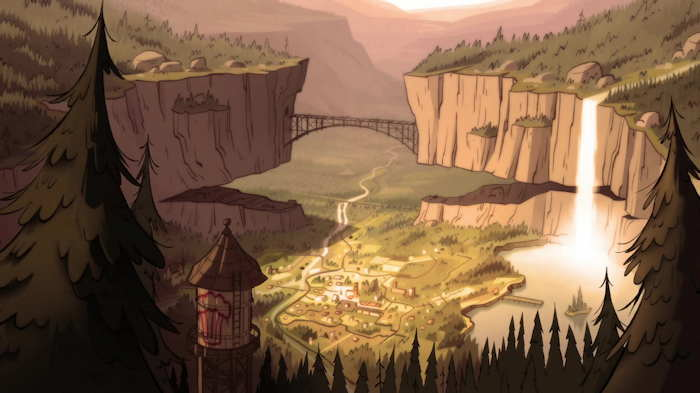 """Gravity Falls""  Capture d'écran: série ""Gravity Falls"" sur Disney channel 411"