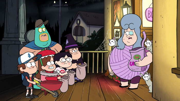 """Trick and treating""...  Capture d'écran: série ©""Gravity Falls"" créée par Alex Hirsch"