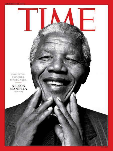 Nelson Mandela en couverture du Time