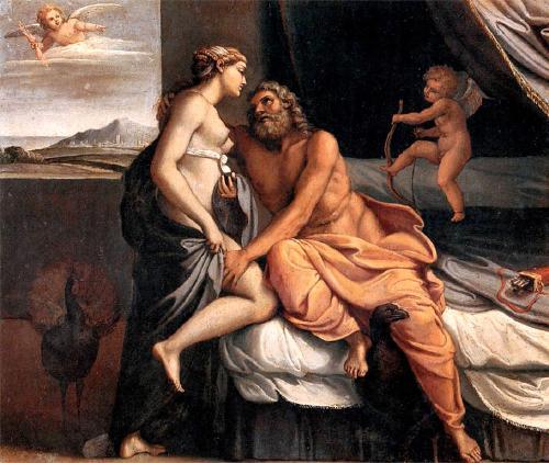 Jupiter et Junon par_Annibale_Carracci