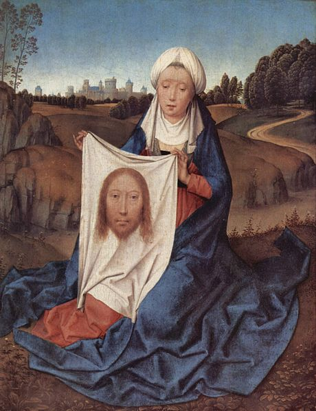 "La ""vera icon"" (l'""image authentique"", ""l'icône authentique"") selon l'artiste Hans Memling"