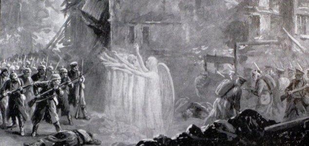 """Intervention surnaturelle """"angélique?"""" en faveur des soldats Anglais   contre les soldats Allemands pendant la 1ere guerre mondiale à Mons!"""