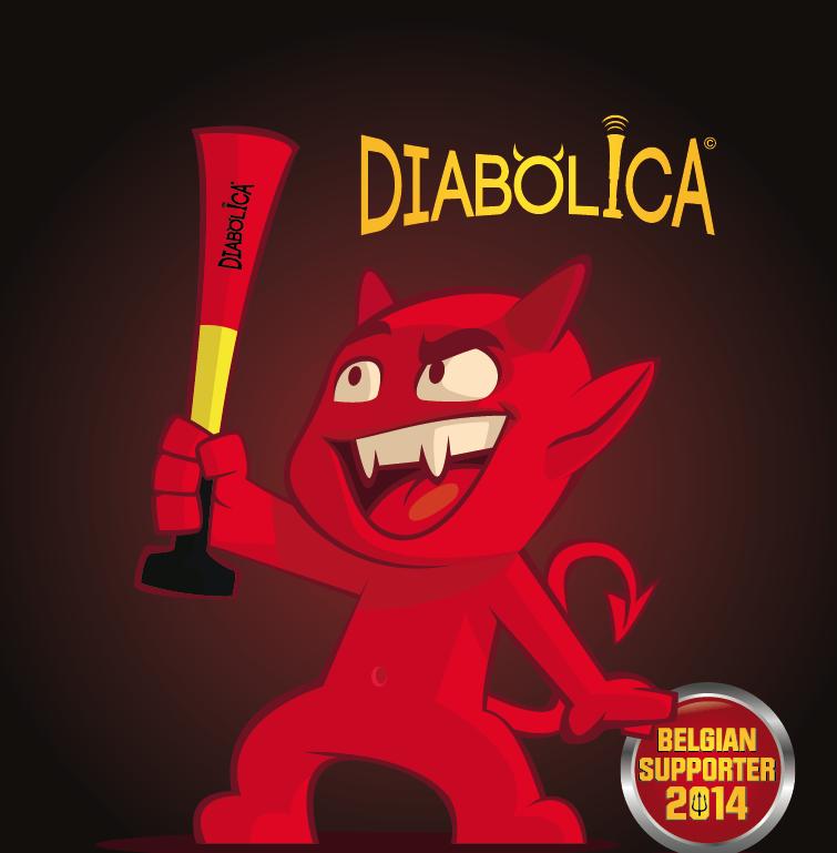 """trompette """"Diabolica"""" pour les supporters Belges"""