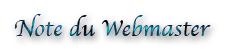 Note du webmaster