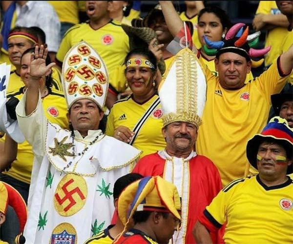 Supporter Colombien pendant la coupe du monde 2014 au Brésil
