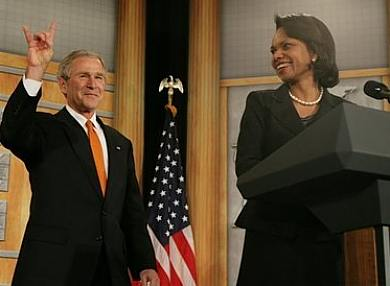 G.W. Bush et C. Rice