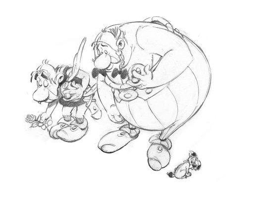Astérix, Obélix et Idefix par Uderzo
