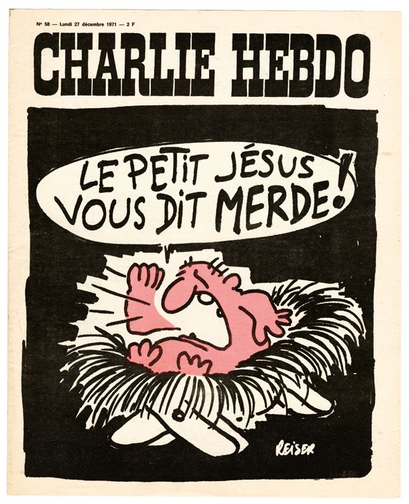 Couverture du Charlie Hebdo du 27 Décembre 1971