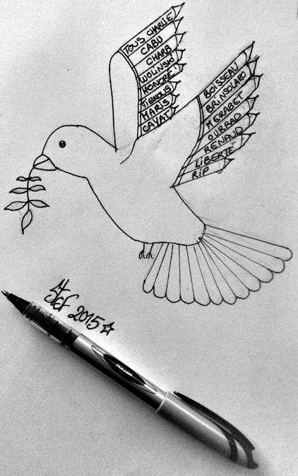 Hommage aux victimes de la tuerie chez Charlie Hebdo