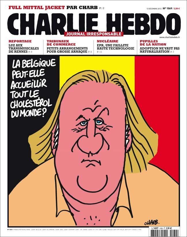 Gérard Depardieu, impôts, Les Unes de Charlie Hebdo une N°1069