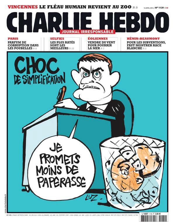 Choc de simplification - Charlie Hebdo N°1139 - 16 avril 2014