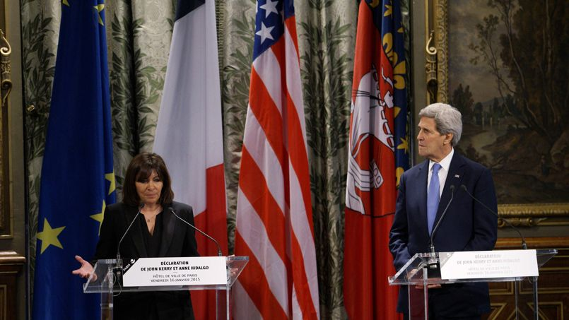 John Kerry et Anne Hidalgo à Paris