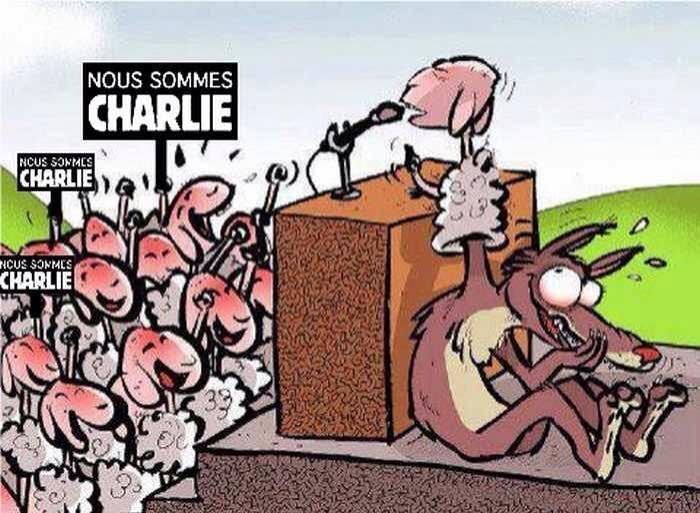 Foule bêlante Charlie Hebdo
