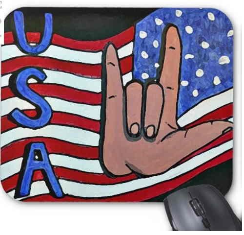 Tapis de souris patriotique
