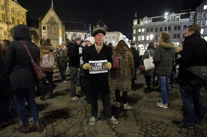 Manifestation Charlie Hebdo à Amsterdam