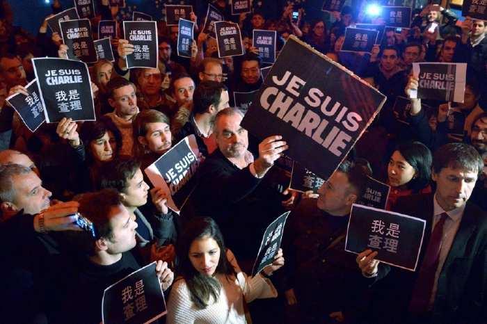Manifestation Charlie Hebdo à Pékin