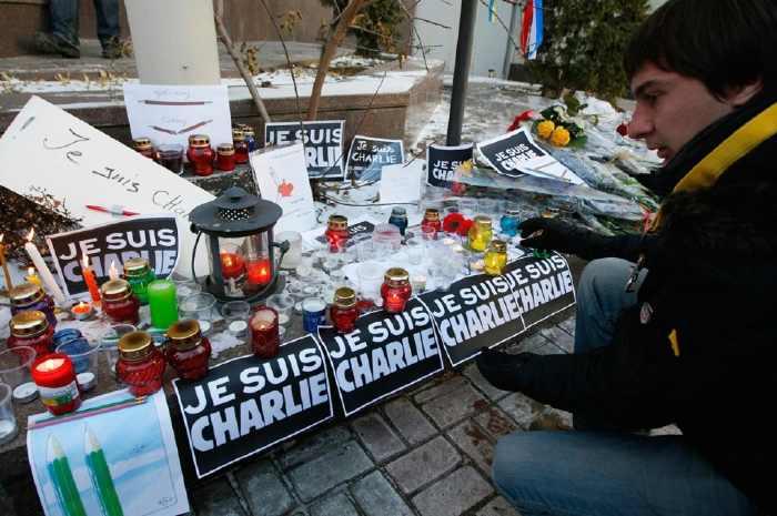 Manifestation Charlie Hebdo à Kiev