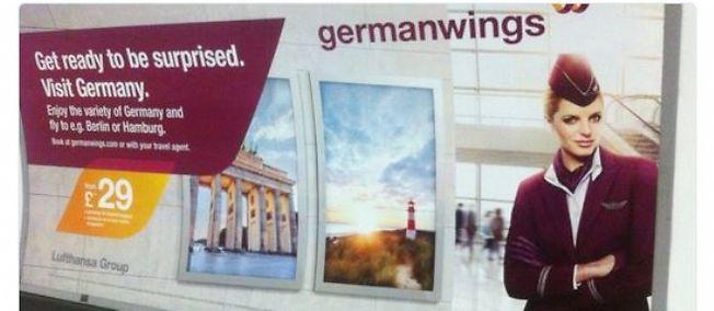 Publicité germanwings dérangeante supprimée dans le métro à Londres!
