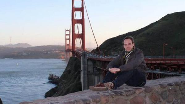 Andreas Lubitz devant le Golden Gate à San Francisco