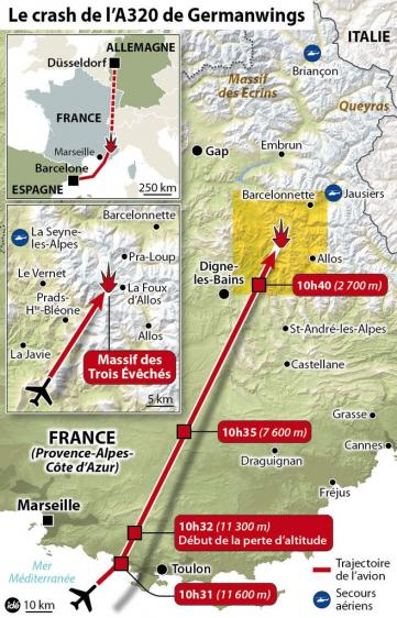 crash de l'Airbus A320 Germanwings 4U9525