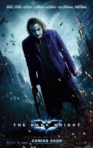 """Heath Ledger interprétant le joker au cinéma dans """"The Dark Knight"""" (2008)"""