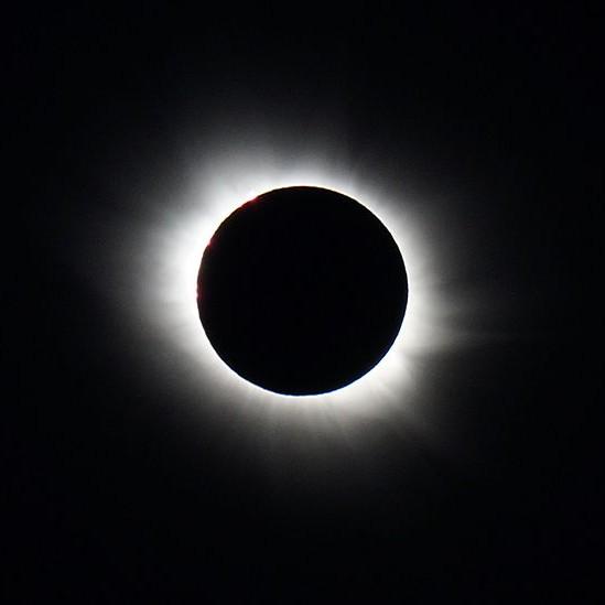 Eclipse totale du soleil le 20 mars 2015 à Longyearbyen,Spitsberg
