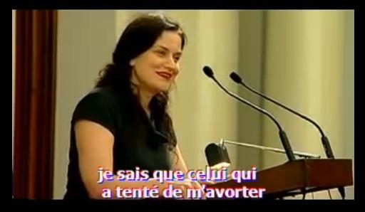 Gianna Jessen, rescapée de l'avortement. Melbourne 2008 - sous-titres en Français
