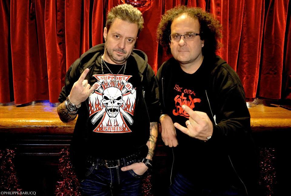 Renaud Hantson (Satan Jokers) à gauche et Laurent Karila à droite