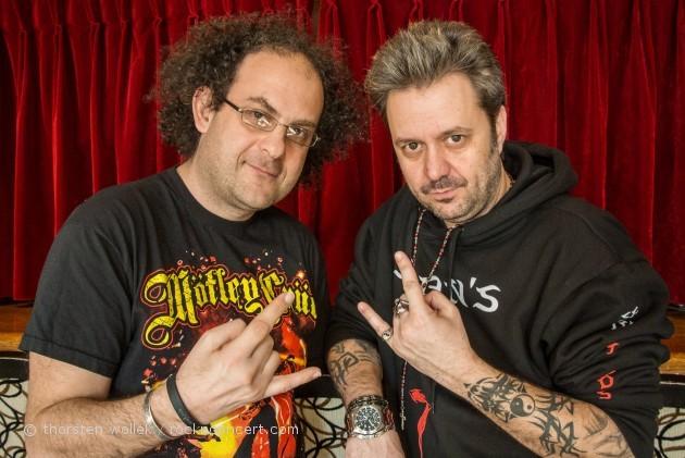 Renaud Hantson (Satan Jokers) à droite et Laurent Karila à gauche