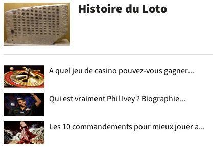 Histoire du Loto