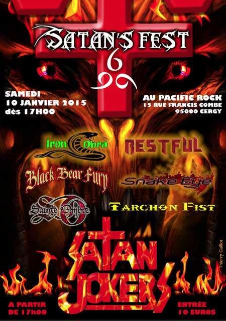 Affiche Satan Fest du 10 Janvier 2015