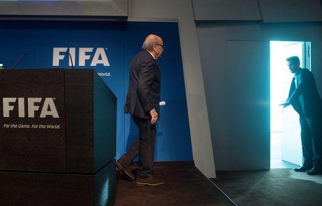 Sepp Blatter après sa conférence de presse de départ, le 2 juin 2015, à Zurich