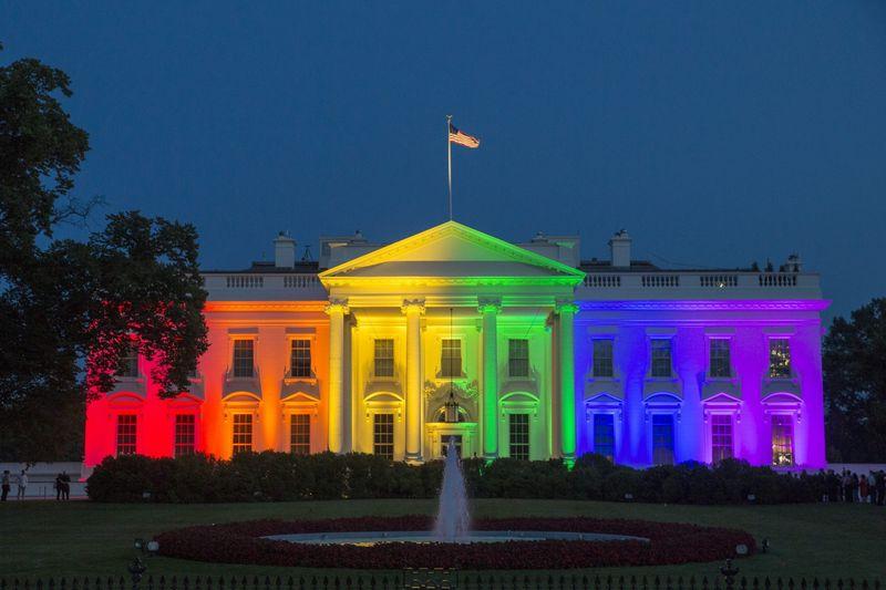 La Maison Blanche aux couleurs de l'arc-en-ciel le 26 Juin 2015