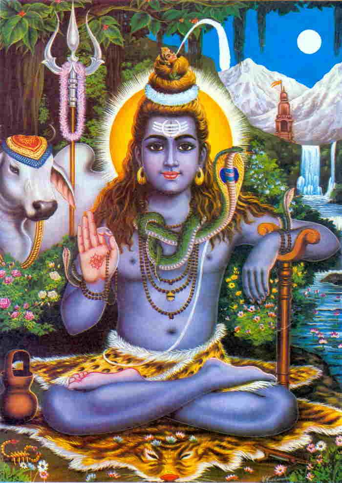 Shiva et son salut digital 666