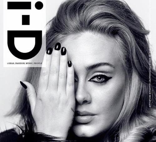 Magazine I-D avec Adèle en couverture