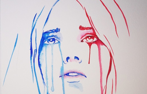 Marianne en larmes