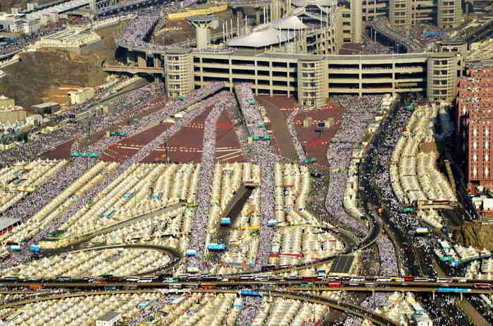 Site de la Mecque pendant le pèlerinage