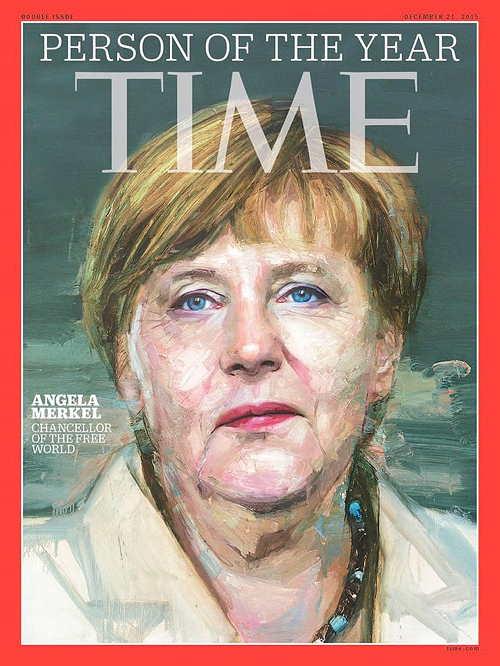 """La chancelière Angela Merkel élue """"personne de l'année 2015"""" par le Time"""