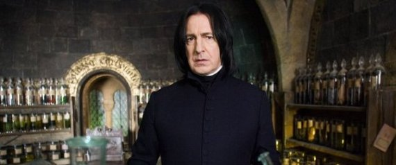 "L'acteur Alan Rickman, alias Severus Rogue dans ""Harry Potter"""