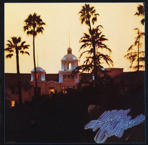 """Hotel California"": pochette inspirée du Beverly Hills Hôtel à Beverly Hills"