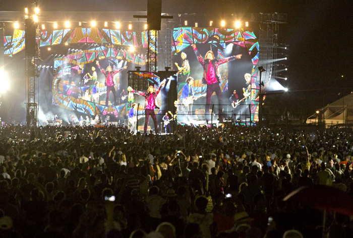 concert des Rolling stones à Cuba