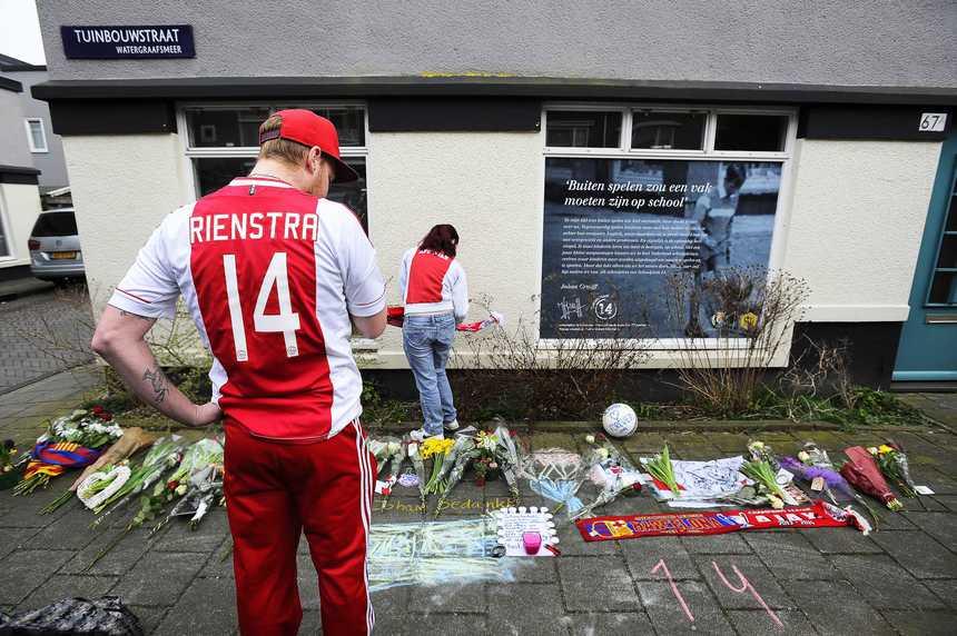 Hommages pour Johan Cruyff à Amsterdam