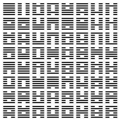 Le Yi King et ses 64 hexagrammes