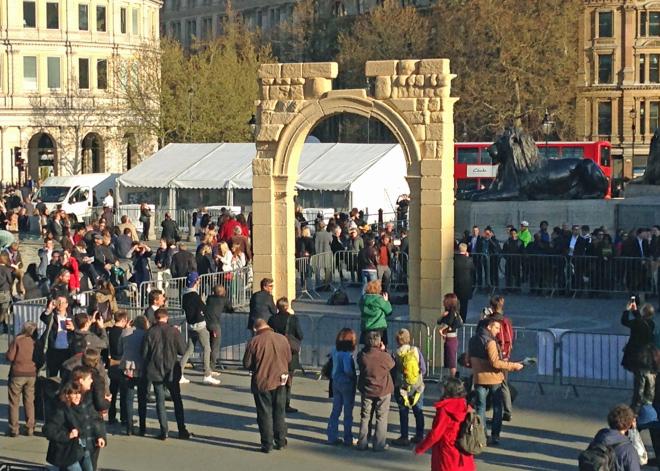 Réplique 3D de l'Arc de triomphe de Palmyre à Londres