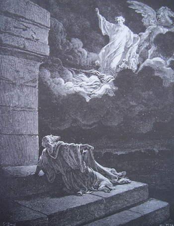 La Bible illustrée par Gustave Doré   la Bible Ancien Testament Elie enlevé sur un char de feu