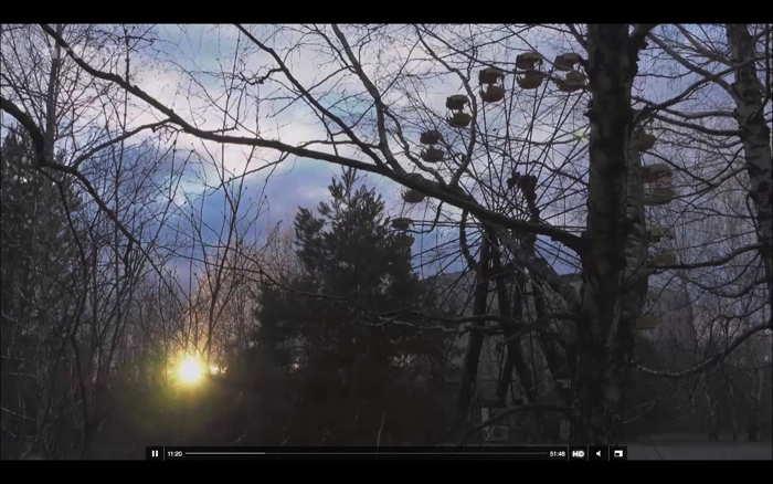 — Capture d'écran Documentaire Tchernobyl sur Arte — 23 Avril 2016 — Ferris wheel —