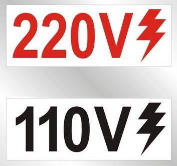 100/127 volts, 220/240 volts