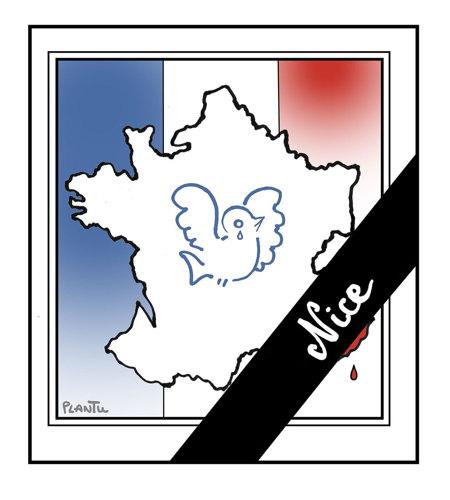 Attentat de Nice selon Plantu