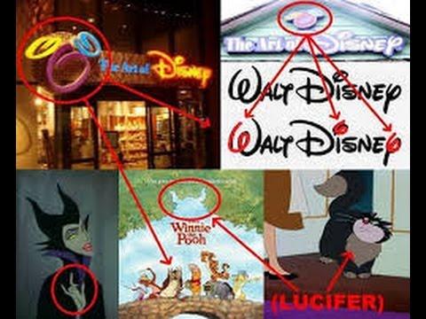 666 Disneyen, signature, salut cornu, silhouette cornue subliminale, Lucifer