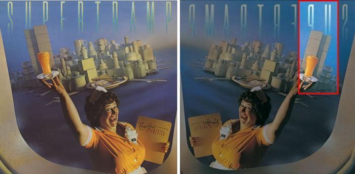 "Jaquette de l'album ""Breackfast in America"" de Supertramp paru en 1978"